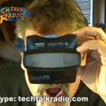A Photo of TechtalkRadio's Andy Taylor looking at a 3D Image